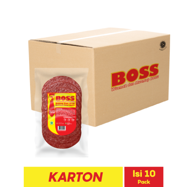 BOSS SMOKED BEEF BULAT 11 PCS 250 GR