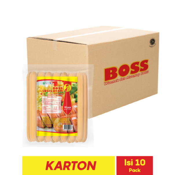BOSS SOSIS AYAM LONG 15 PCS 500 GR