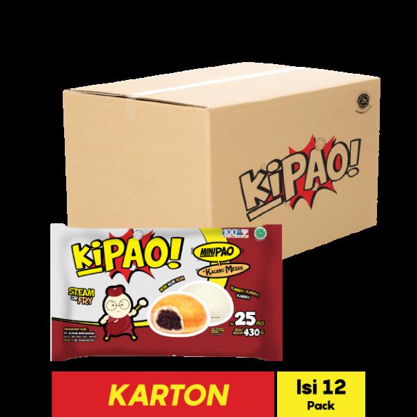 KIPAO MINIPAO KACANG MERAH 25 PCS 430 GR